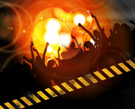 Music background illustration Vector