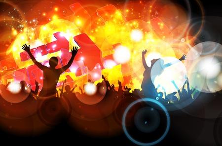 nightclub crowd: Dancing people