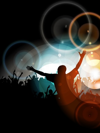 youth group: Vector party background