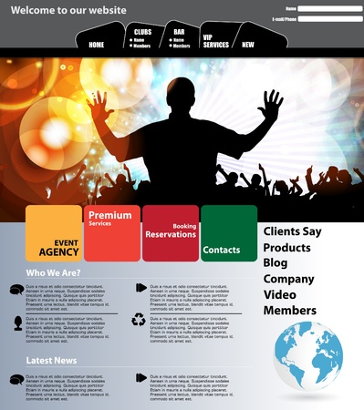 Web design template Ilustracja