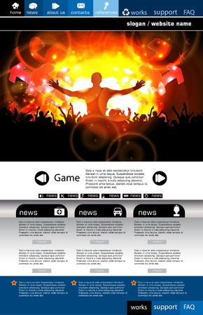 clubing: Web design template Illustration