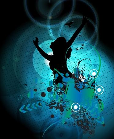 clubing: Music background illustration