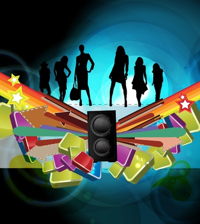 Music background illustration Stock Vector - 13294493