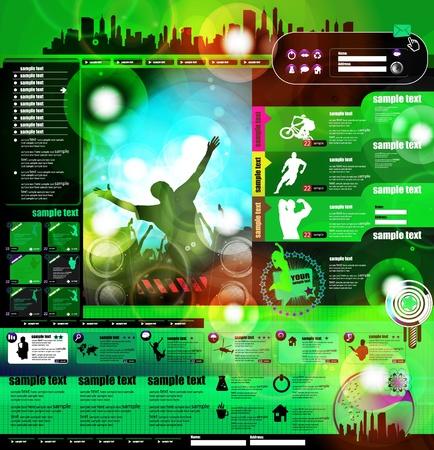 Music Website Template Design Stock Vector - 13281884