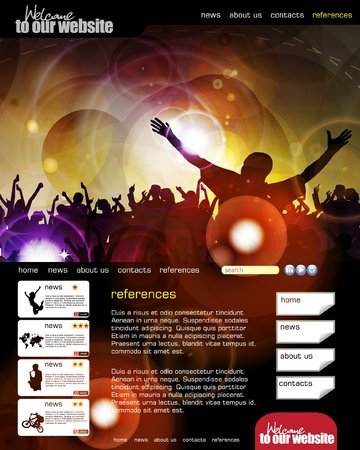 urban youth: Web site layout with music event subject
