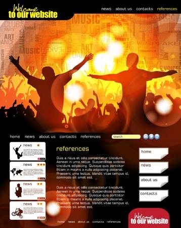 sujeto: Dise�o de sitios Web con el objeto evento musical