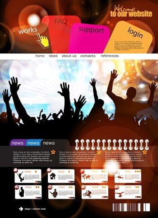 web design template: Web design template Illustration