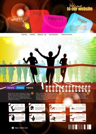 Web design template Illustration