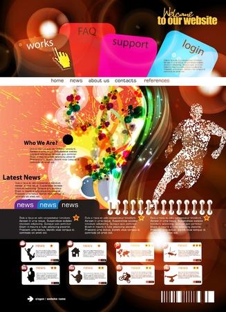 Web de la plantilla de diseño Ilustración de vector
