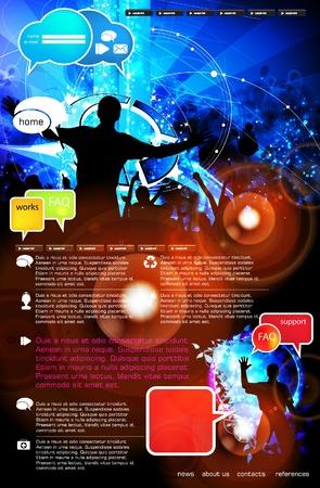 Web design template Stock Vector - 13294417