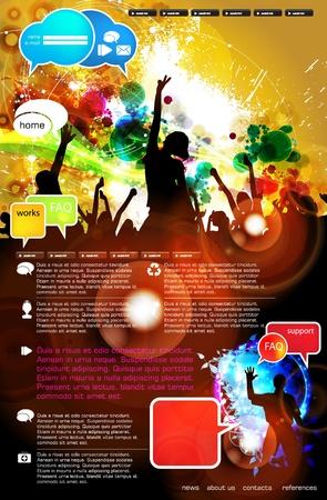 nightclub crowd: Web site layout