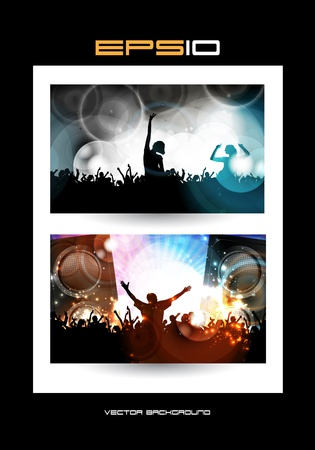 Music event illustration Vector