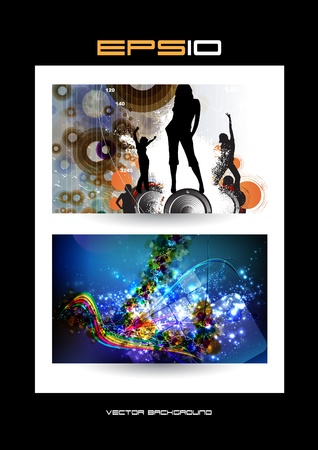Music event background   illustration Stock Vector - 13357524