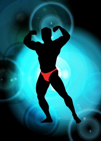 arm muscles: Vector illustration of muscle man Illustration