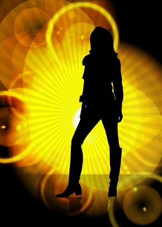 sexy stockings: Vektor-Illustration von stilisierten M�dchen Illustration