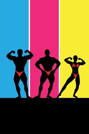 Bodybuilding  Vector illustration with place for text Vector