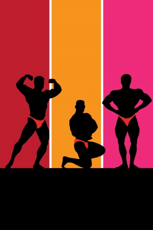 deltoids: Bodybuilding  Vector illustration with place for text