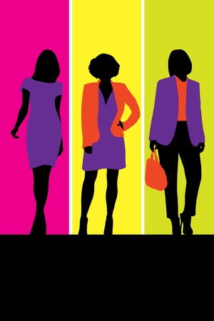 stockings woman: Fashion illustration Illustration