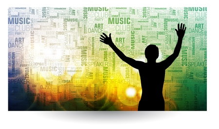 Music event background for web banner Stock Vector - 13440590