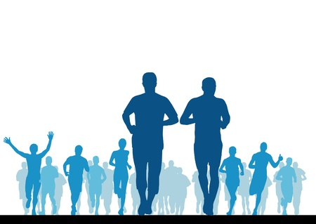 running race: Jogger  Vector illustration