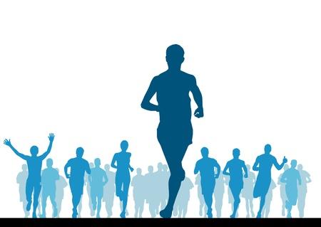 people jogging: Jogger ilustraci�n vectorial