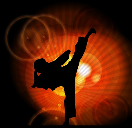 kyokushin: Illustration of karate