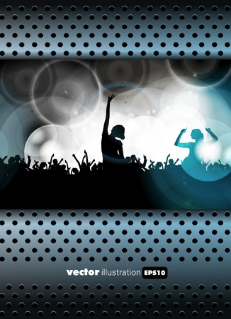 Dancing people  Vector illustration Vector