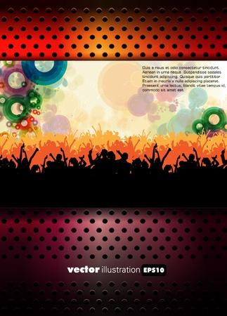 nightclub flyer: Party vector illustration