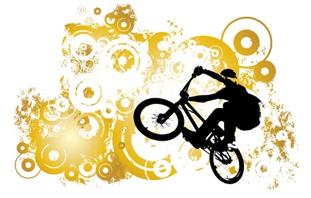 Vector of BMX cyclist Vector
