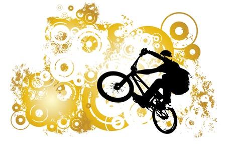 bmx: Vector of BMX cyclist