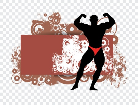Vector illustration of muscle man  Vector