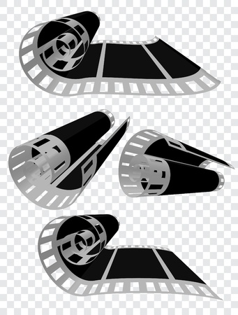 35mm film motion picture camera: Ilustraci�n vectorial de pel�cula fotogr�fica