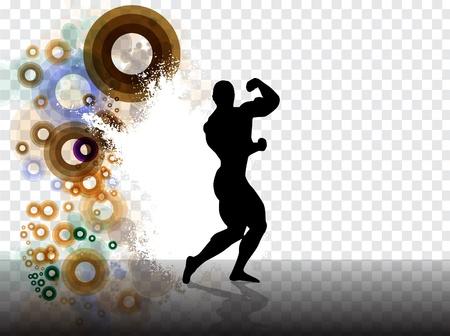 Bodybuilding  Vector illustration Stock Vector - 13585238