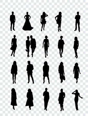 High quality traced posing silhouettes  Vector illustration Stock Vector - 13585263