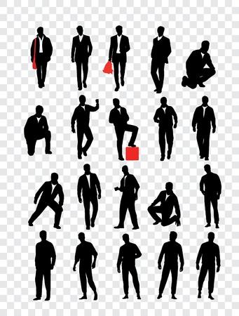 silueta masculina: Trazado de alta calidad que presenta la ilustración vectorial siluetas