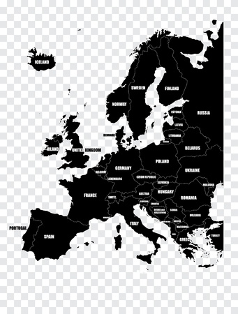 Map of Europe Stock Vector - 13585295