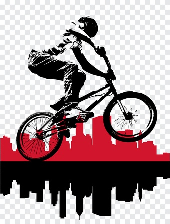 stunt: Vector of BMX cyclist