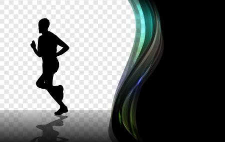 jogger: Dancing people  Vector illustration