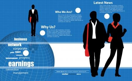 Business concept Vektoros illusztráció