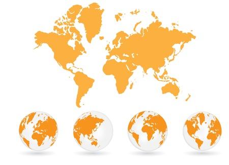 World map Stock Vector - 13657523