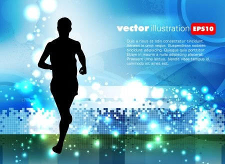 medical practice: Sport vector illustration Illustration