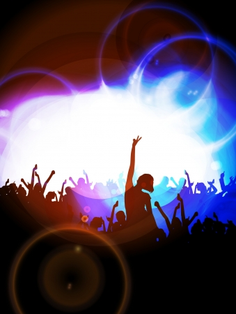party dj: Vecteur partie de fond Illustration