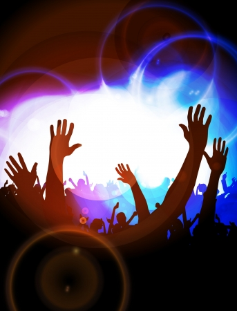 concert crowd: Vector party background