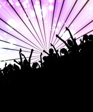 Discoteque Music Illustration Vector