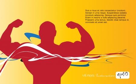 Bodybuilding  Vector illustration   Vector