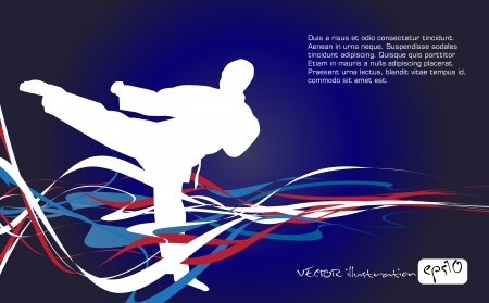 judo: illustration de silhouettes martiaux