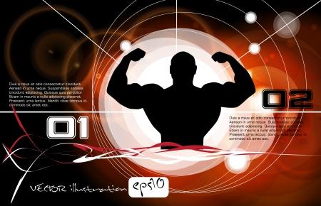 perfect body: Bodybuilding  Vector illustration