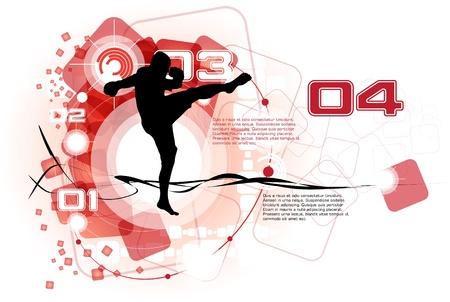 combative sport: Karate poster Illustration