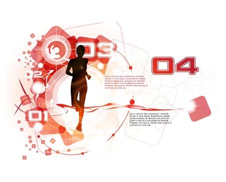 athlete running: Sport vector illustration Illustration