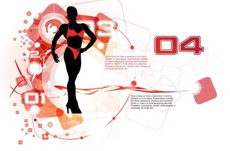 Fitness woman Stock Vector - 13777878